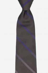 Cà vạt nâu kẻ chéo xanh nhạt