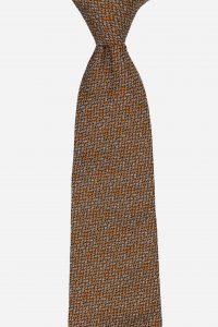 Cà vạt silk tự nhiên họa tiết lá lấp lánh