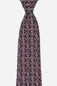Cà vạt silk 100% với họa tiết sang trọng ánh bạc