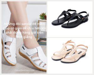 Mẫu giày dép sandal tặng cô giáo