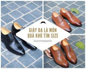Giày da là món quà đẹp lịch sự nhưng khó chọn size phù hợp để tặng thầy