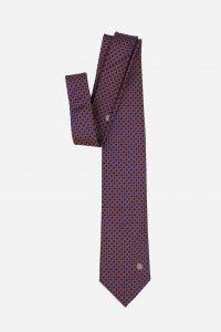 Cà vạt Hàn Quốc lụa 100% xanh than móc xích cam