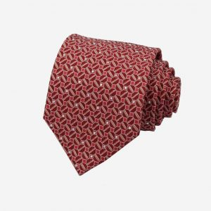 Cà vạt Hàn Quốc lụa 100% đỏ hồng đính đá