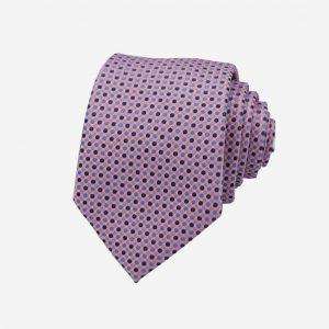 Cà vạt Hàn Quốc tím hồng chấm bi
