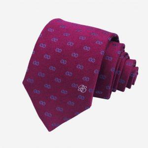 Cà vạt Hàn Quốc màu huyết dụ
