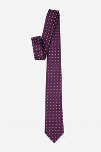 Cà vạt tím hồng đậm cao cấp