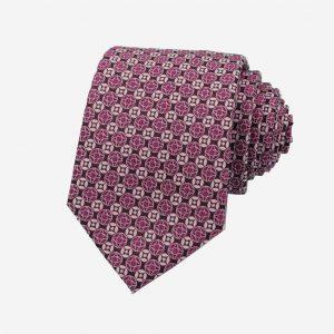 Cà vạt Hàn Quốc màu tím nhạt họa tiết đồng xu