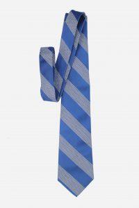Cà vạt lụa Việt Nam xanh dương kẻ chéo chỉ có 01 chiếc duy nhất
