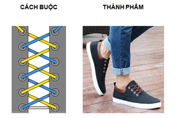Cách buộc dây giày CRISS - CROSS