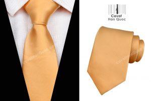 Cà vạt da cam mịn bản to 8cm