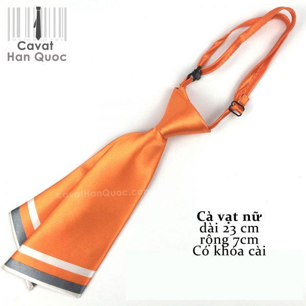 Cà vạt nữ màu cam kiểu chéo