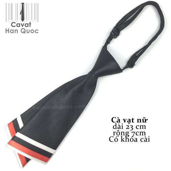 Cà vạt nữ đen chéo
