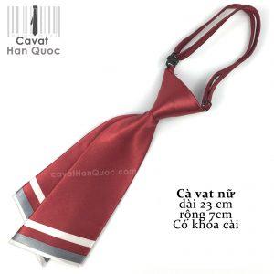 Cà vạt đỏ mận chéo