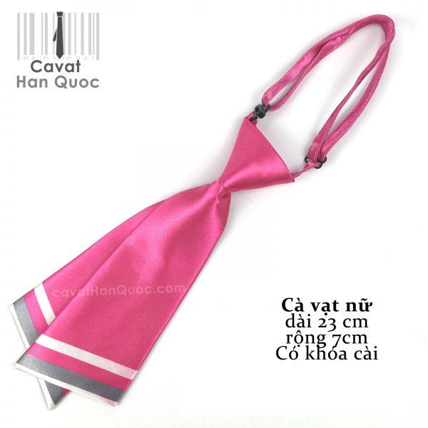 Cà vạt nữ hồng chéo