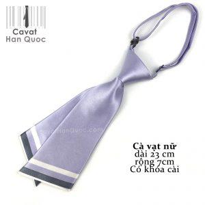 Cà vạt nữ tím sáng chéo