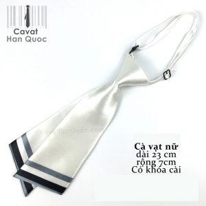 Cà vạt nữ trắng chéo