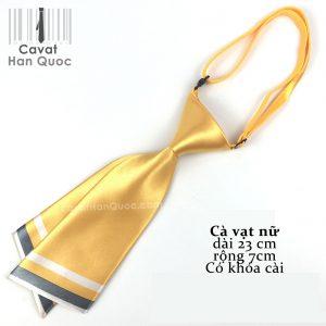 Cà vạt nữ vàng chéo