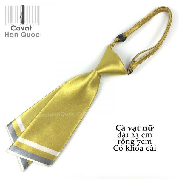 Cà vạt nữ vàng đồng chéo