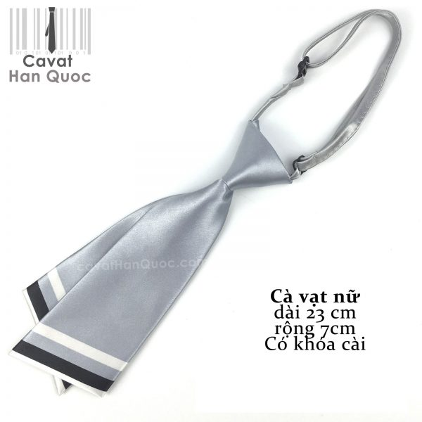 Cà vạt nữ xám ghi chéo