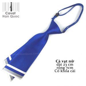 Cà vạt nữ xanh dương chéo