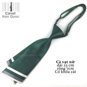 Cà vạt nữ xanh lá chéo