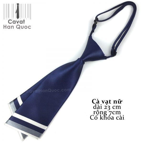 Cà vạt nữ xanh than chéo