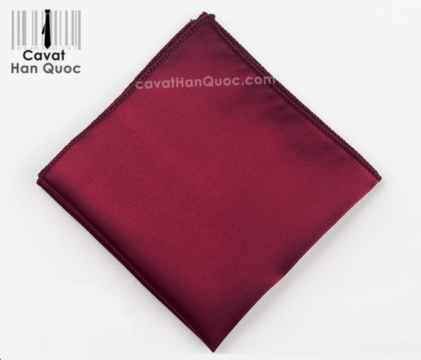 Khăn áo vest đỏ mận trơn