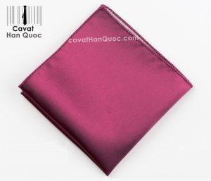 Khăn áo vest tím hồng tươi trơn