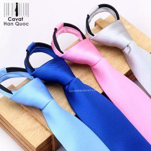 Cà vạt thắt sẵn khóa kéo đủ màu