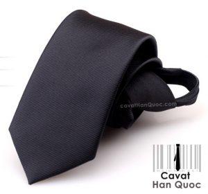 Cà vạt thắt sẵn khóa kéo màu đen