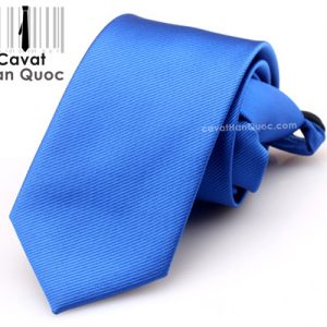 Cà vạt thắt sẵn khóa kéo màu xanh dương