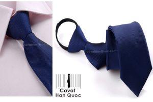 Cà vạt thắt sẵn khóa kéo màu xanh than
