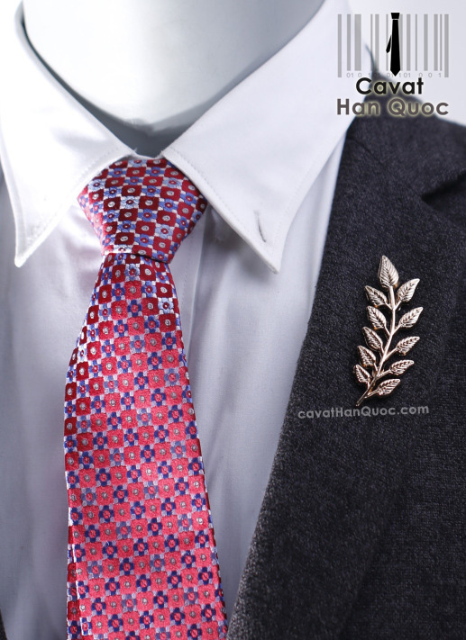 Khuy ghim cài áo hình nhánh lá